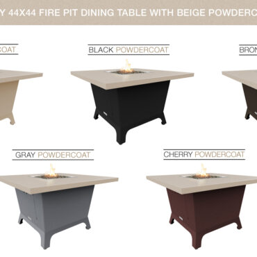Beige Powdercoat Top & Base Color Configurations