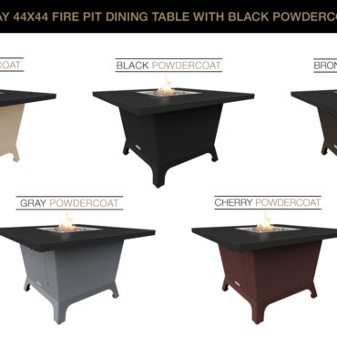 Black Powdercoat Top & Base Color Configurations