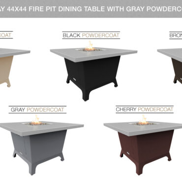 Hilltop Grey Powdercoat Top & Base Color Configurations