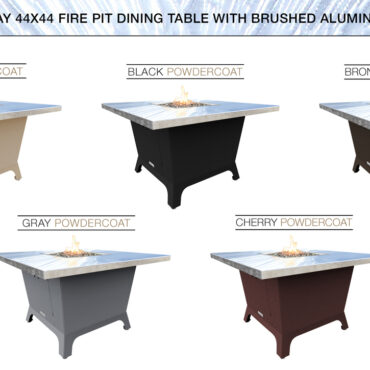 Brushed Aluminum Top & Base Color Configurations
