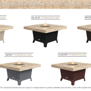 So Cal Special - Cafe Creme Granite Top Color Configurations