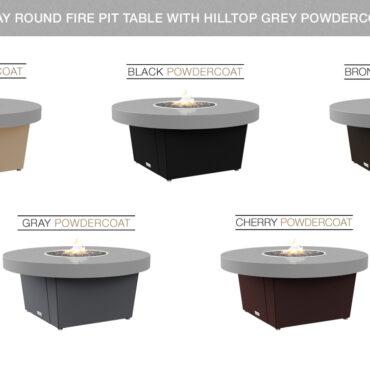 Hilltiop Grey Powdercoat Top Table Color Configuraitons