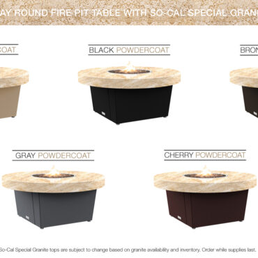 So-Cal Special Granite Top Table Color Configurations