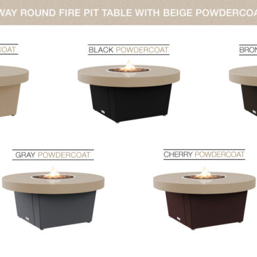 Beige Powdercoat Top Table Color Configurations