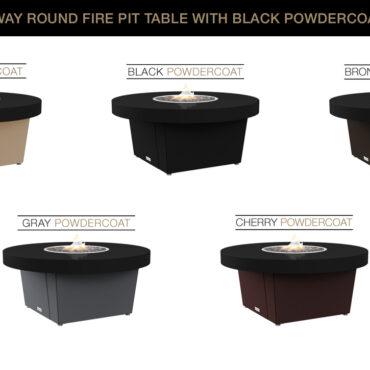 Black Powdercoat Top Table Color Configurations