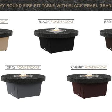 Black Pearl Granite Top Table Color Configurations