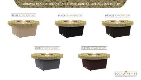 Santa Cecillia Granite Top Table Color Configurations