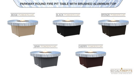 Brushed Alluminum Top Table Color Configurations