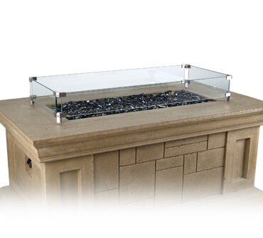 Optional Glass Wind Guard (shown on different table)