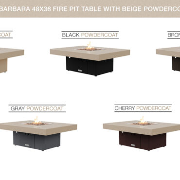 Beige Powdercoat Top Table Configurations