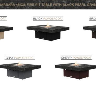 Black Pearl Granite Top Table Configurations