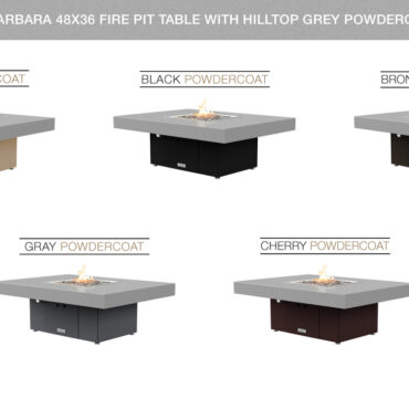 Hilltop Grey Powdercoat Top Table Configurations