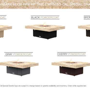 Cafe Creme Granite Top Table Configurations (So Cal Special)