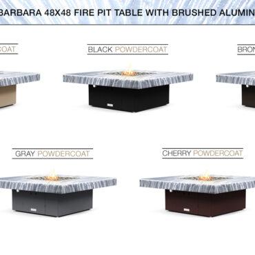 Brushed Aluminum Top- Base Color Options