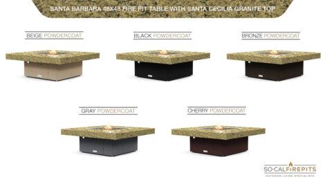 Santa Cecilia Granite Top- Base Color Options
