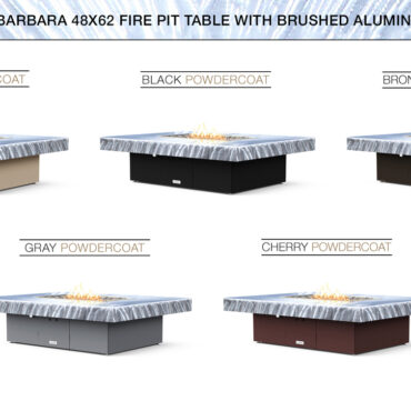 Brushed Aluminum Top