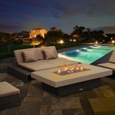 Santa Barbara Rectangular Fire Pit Table - 62 x 48