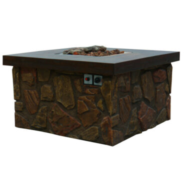 Evans Lane - Port Royal Cast Stone Fire Pit Table