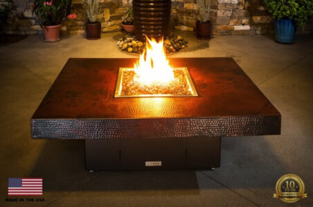 COOKE Santa Barbara Fire Pit Table 48x48