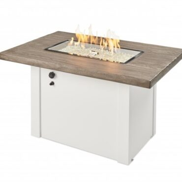 Outdoor Greatroom Driftwood Havenwood Gas Fire Pit Table