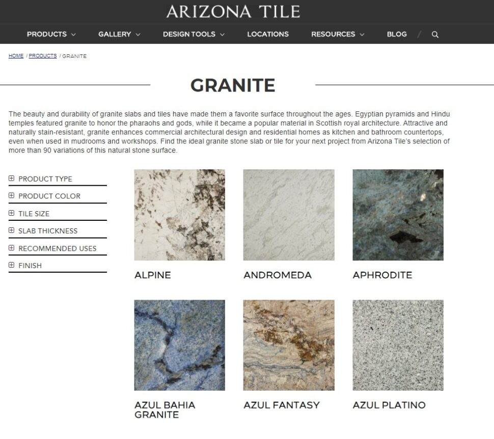 Arizona Tile slab Yard