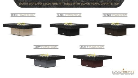 Black Pearl Granite Top- Base Options