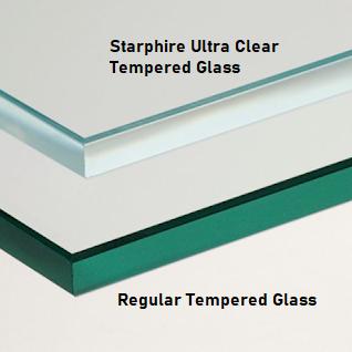 Starphire Ultra Clear Glass Comparison